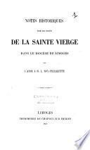 Notes historiques sur le culte de la sainte Vierge dans le diocèse de Limoges