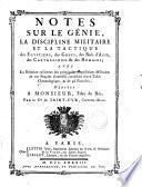 Notes sur le génie, la discipline militaire et la tactique des Égyptiens, des Grecs, des rois d'Asie, des Carthaginois & des Romains
