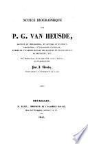 Notice biographique sur P. J. Van Heusden