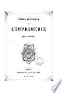 Notice historique sur l'imprimerie