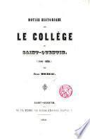 Notice historique sur le Collége de Saint Quentin