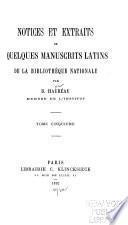Notices et extraits de quelques manuscrits latins de la Bibliothèque nationale