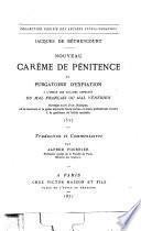 Nouveau carême de pénitence et purgatoire d'expiation, à l'usage des malades affectés du mal française ou mal vénérien