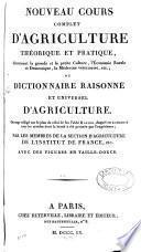 Nouveau cours complet d'agriculture théorique et pratique