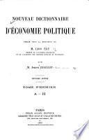 Nouveau dictionnaire d'economie politique
