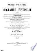 Nouveau dictionnaire de géographie universelle