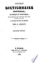 Nouveau dictionnaire proverbial, satirique et burlesque
