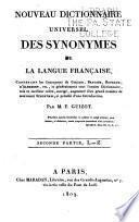 Nouveau dictionnaire universal des synonymes de la langue française