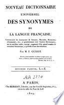 Nouveau Dictionnaire universel des synonymes de la langue française...