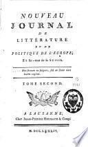 Nouveau journal de littérature et de politique de l'Europe, et surtout de la Suisse