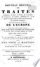 Nouveau recueil de traités d'alliance, de paix, de trève:.