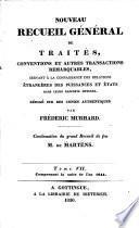 Nouveau recueil de traités d'alliance