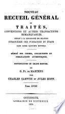Nouveau recueil général de traités: 1860-1873