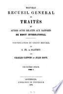 Nouveau recueil général de traités et autres actes relatifs aux rapports de droit international0