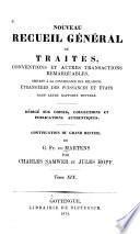 Nouveau recueil general de traites (etc.)