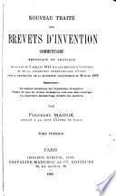Nouveau traité des brevets d'invention