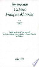 Nouveaux Cahiers Françis Mauriac