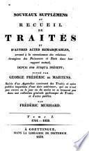 Nouveaux supplémens au recueil de traités