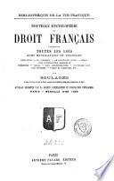 Nouvelle encyclopédie du droit français