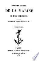 Nouvelles annales de la marine et des colonies