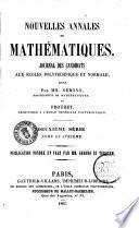 Nouvelles annales de mathematiques journal des candidats aux ecoles polytechnique et normale