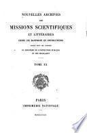 Nouvelles archives des missions scientifiques et littéraires