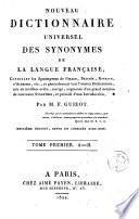 Noveau dictionnaire universel des synonymes de la langue française, 1