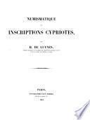 Numismatique et inscriptions cypriotes
