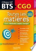 Objectif BTS Toutes Les Matieres Bts Cgo