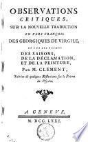 Observations critiques sur la nouvelle traduction en vers françois des Georgiques de Virgile