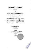 Observations critiques sur les conférences du R. P. Lacordaire