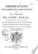 Observations Des Commissions Consultatives Sur Le Projet de Code Rural