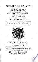 Oeuvres badines complettes, du comte de Caylus: Les mantcaux, 2. ptie. Contes orientaux et féeries. Nouveaux contes orientaux