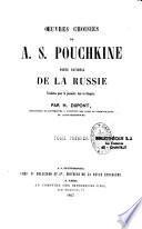 Oeuvres choisies de A. S. Pouchkine, poète national de la Russie