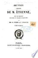 Oeuvres choisies de m. Étienne