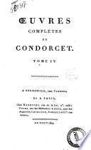 Oeuvres completes de Condorcet