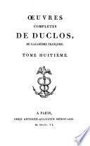 Oeuvres complètes de Duclos