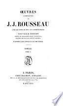 Oeuvres complètes de J.J. Rousseau