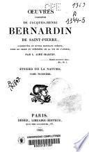 Oeuvres complètes de Jacques-Henri-Bernardin de Saint-Pierre