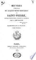 Oeuvres completes de Jacques-Henri-Bernardin de Saint-Pierre.Nouvelle edition revue,corrigee et augmentee par L.Aime Martin...Tome premier \-douzieme!