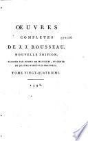 Oeuvres complètes de Jean-Jacques Rousseau
