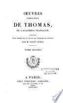 Oeuvres complètes de M. Antoine-Léonard Thomas