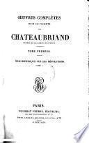 Oeuvres complètes de M. le Vicomte de Chateaubriand: Essai historique sur les révolutions