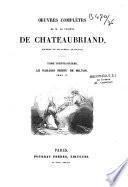 Oeuvres complètes de m. le vicomte de Chateaubriand: Le Paradis Perdu de Milton