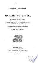 Oeuvres complètes de Madame de Staël
