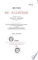 Oeuvres complètes de Malherbe
