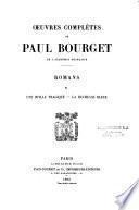 Oeuvres complètes de Paul Bourget