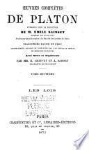 Oeuvres complètes de Platon: -9. Les Lois