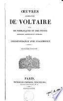 Oeuvres complètes de Voltaire: Correspondance avec D'Alembert