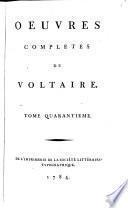 Oeuvres complètes de Voltaire..